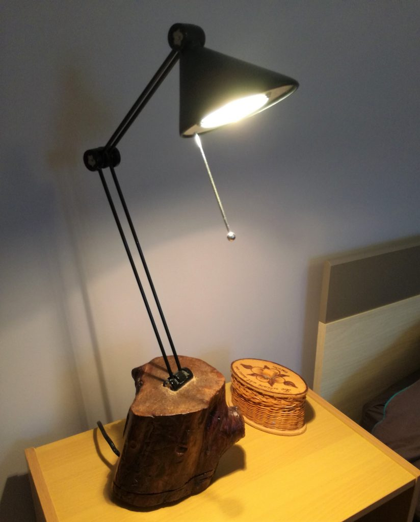 Lampe bûche naturelle